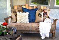 Salon de terrasse réalisé en palette